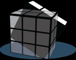 Back face Rubiks Kubus