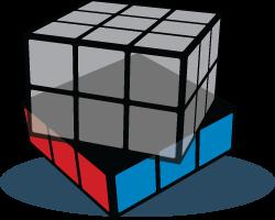 Down face Rubiks Kubus