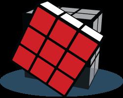 Front face Rubiks Kubus