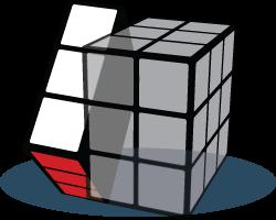 Left face Rubiks Kubus